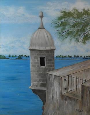 Puerto Rico Painting - Garita Del Diablo  by Maurice Dilan