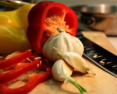 Photograph - Garlic And Peppers by Joseph Skompski