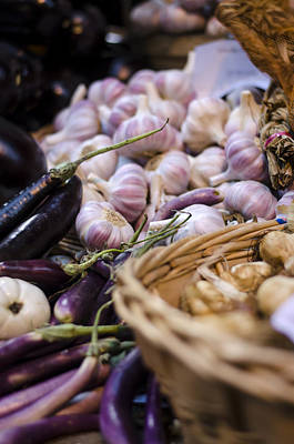Photograph - Garlic At The Market by Heather Applegate