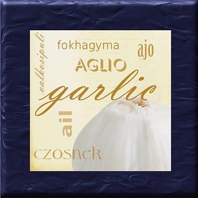 Translate Digital Art - Garlic by Marti Snider