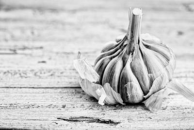 Table Photograph - Garlic by Nailia Schwarz