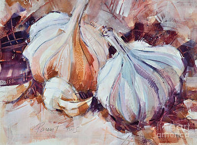 Painting - Garlic by Roger Parent