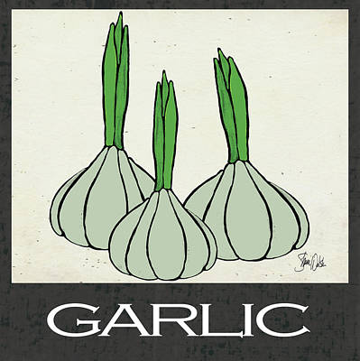 Painting - Garlic by Shanni Welsh