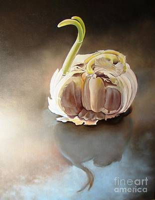 Cloves Painting - Garlic Swan by Linda Hunt
