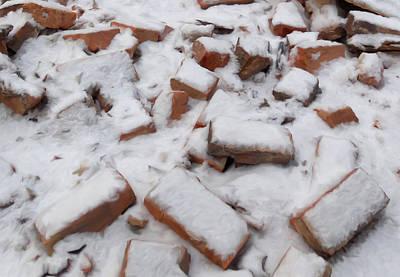 Bellefonte Wall Art - Mixed Media - Garman Bricks In Snow by Mary Vollero