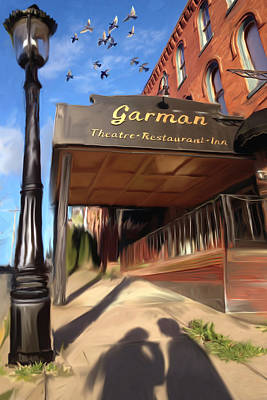 Bellefonte Wall Art - Mixed Media - Garman With 2 Shadows by Mary Vollero