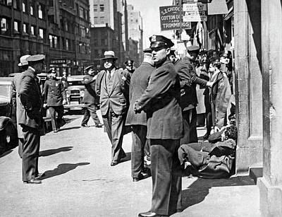 Police Officer Photograph - Garment Workers Attacked by Underwood Archives