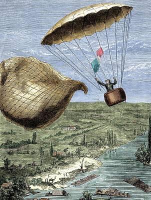 Garnerin's Parachute Art Print