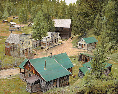 Wood Painting - Garnet In Montana by Guido Borelli