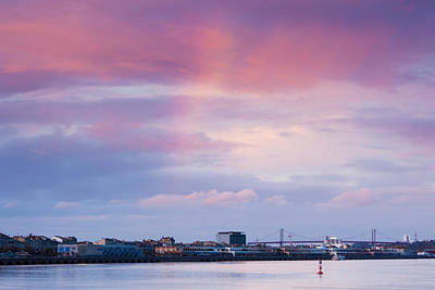 Aquitaine Photograph - Garonne Riverfront At Dusk, Bordeaux by Panoramic Images