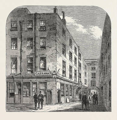 Old Neighbourhood Drawing - Garraways Coffee House, Change Alley, London by English School