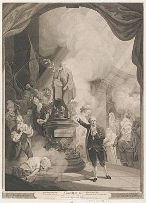Garrick Speaking The Jubilee Ode Art Print by after Robert Edge Pine