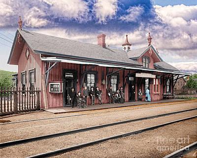 Garrison Train Station Colorized Art Print