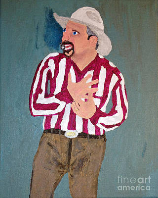 Garth Brooks Painting - Garth Brooks Emotional by Lloyd Alexander