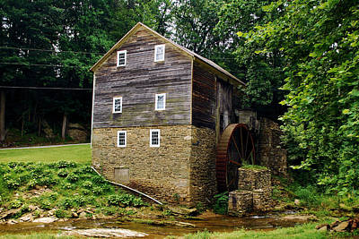 Photograph - Garvines Grist Mill by Bob Sample