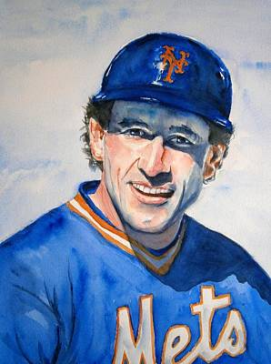 New York Mets Painting - Gary Carter by Brian Degnon