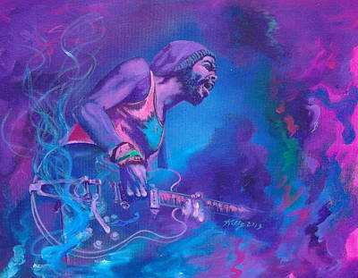 Painting - Gary Clark Jr. by Kathleen Kelly Thompson