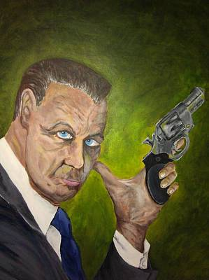 Ruger Painting - Gary Cooper Ruger Sp101 by Melissa Sink