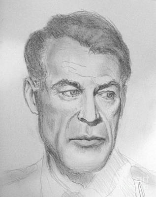 Drawing - Gary Cooper by Sam Shacked