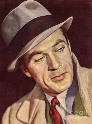 America Painting - Gary Cooper by Vincent Monozlay