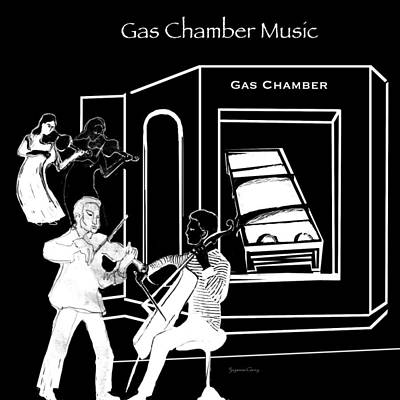 Digital Art - Gas Chamber Music by Suzanne Cerny