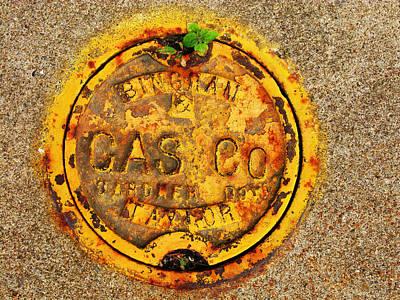 Grunge Photograph - Gas Co by Randi Kuhne