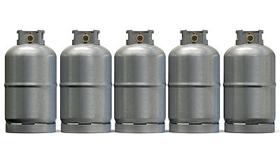 Gas Cylinder Row Art Print