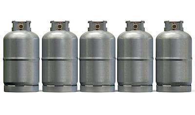 Gas Cylinder Row Print by Allan Swart