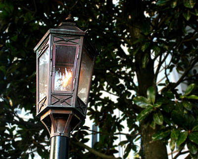 Gas Lamp Photograph - Gas Lamp by Allyson Jones