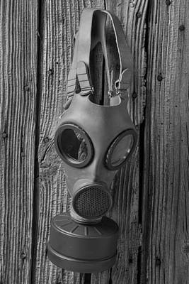 Inhale Photograph - Gas Mask by Garry Gay