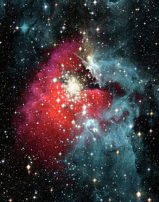 Photograph - Gas Nebula - Deep Space by Steve Allen