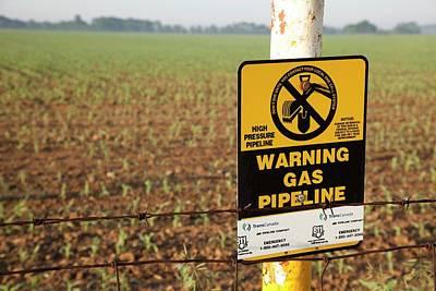 Gas Pipeline Marker Art Print by Jim West