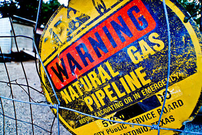 Gas Pipeline Art Print