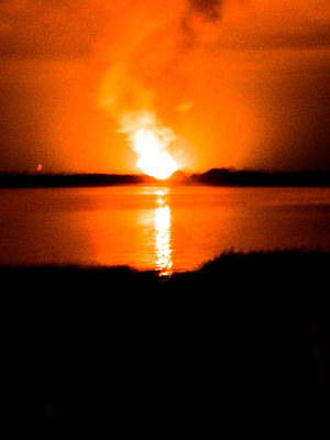 Photograph - Gas Plant Explosion by Christy Usilton