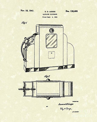 Gas Pump 1941 Patent Art Art Print