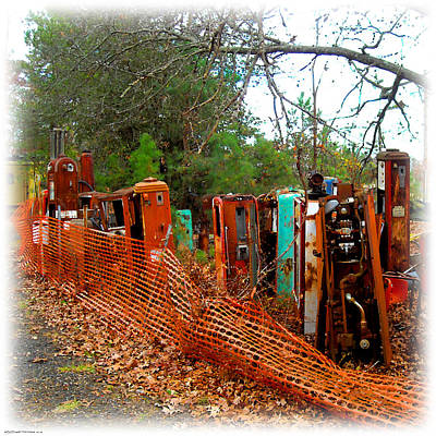 Digital Art - Gas Pump Gathering by K Scott Teeters