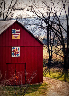 Barn Quilts Photograph - Gasconade Double Quilt Barn by Cricket Hackmann