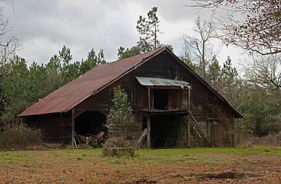 Photograph - Gaskins Family Barn - Gallivants Ferry by Suzanne Gaff