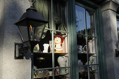Photograph - Gaslamp And Store Window by Bradford Martin