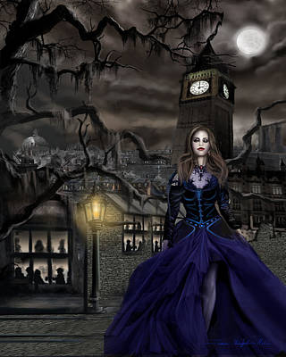 Painting - Drucilla - Gaslight Fantasia Cover Darkhair by James Christopher Hill