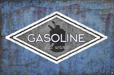 Man Cave Painting - Gasoline by Aubree Perrenoud