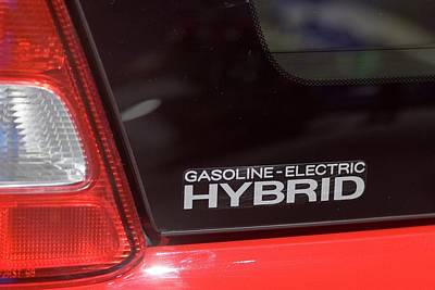 Gasoline-electric Hybrid Car Art Print