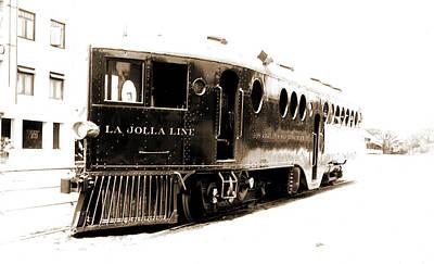 Street Car Drawing - Gasoline Motor Car Running From San Diego, La Hoya Sic by Litz Collection