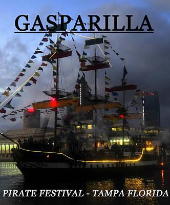 Gasparilla Ship Print Work C Art Print by David Lee Thompson