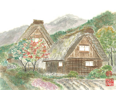 Gassho-zukuri Home Art Print