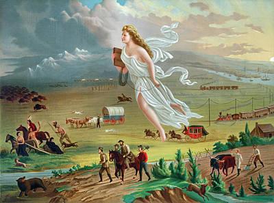Destiny Painting - Gast American Progress by Granger