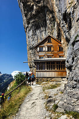 Photograph - Gasthaus Aescher On Ebenalp by Charles Lupica