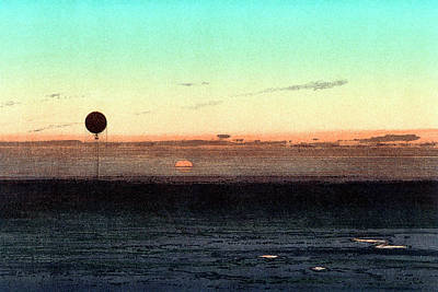 1835 Photograph - Gaston Tissandier's Balloon Silhouette by Universal History Archive/uig