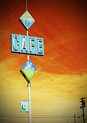 Gaston's Cafe  Art Print by Charlette Miller