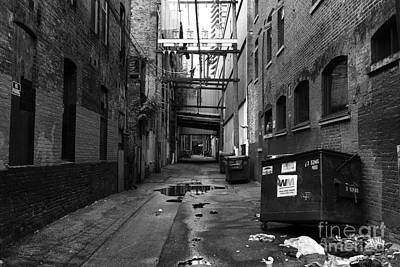 Dumpster Photograph - Gastown Alley by John Rizzuto